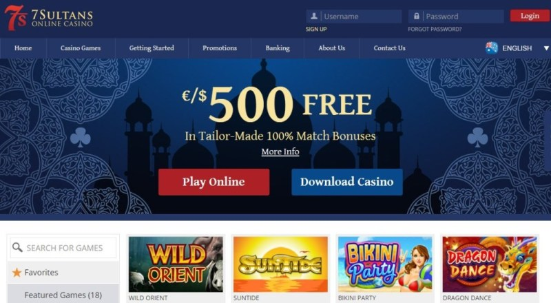 7 Sultans Casino Review & Bonuses